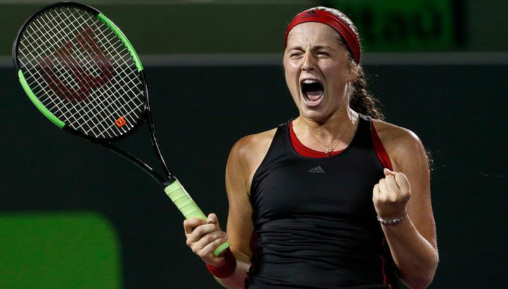 Остапенко в финале турнира в Майами сыграет со Стивенс
