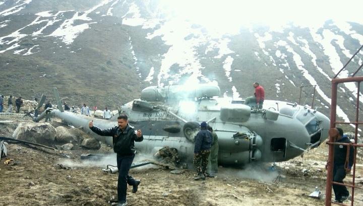 Крушение вертолета Ми-17 ВВС Индии в Гималаях попало на видео