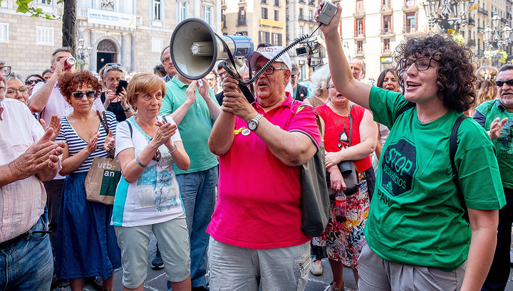В Барселоне прошла акция против массового туризма