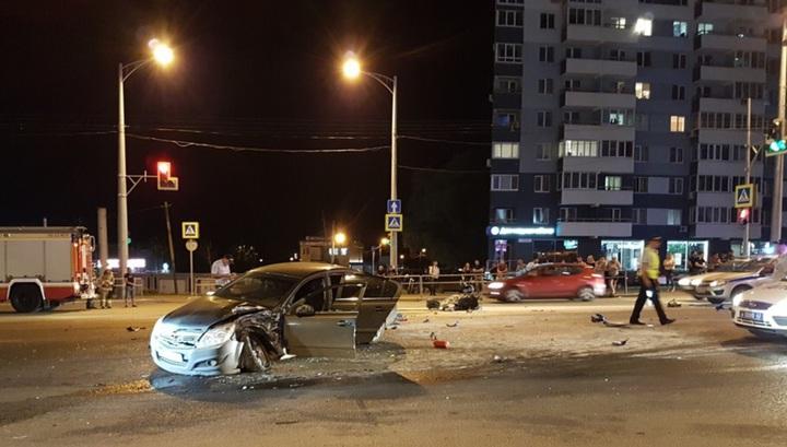 Камера наблюдения запечатлела момент гибели мотоциклиста в Самаре