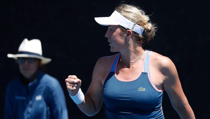 Павлюченкова вышла в 1/8 финала Australian Open, разгромив Саснович
