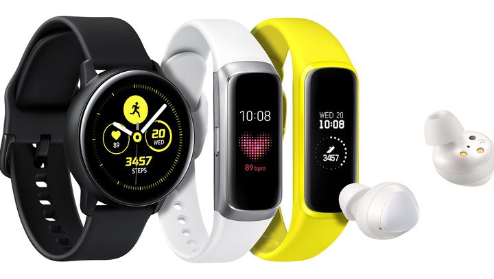 Новинки Samsung: аналог AirPods, смарт-часы Galaxy Watch Active и два фитнес-браслета