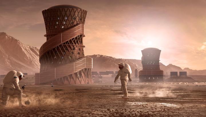 NASA показало лучшие проекты марсианских домов