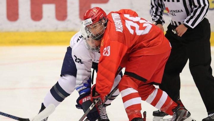 Российские хоккеисты потерпели первое поражение на юниорском чемпионате мира