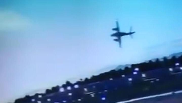 Момент крушения самолета в Калифорнии сняли на видео