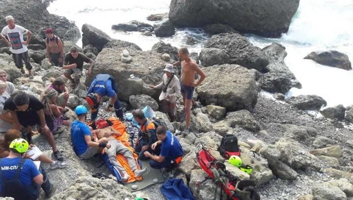 Екатеринбуржец сорвался со скалы на мысе Меганом в Крыму