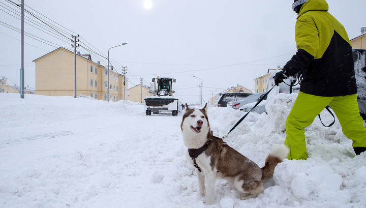 Снежный циклон нарушил энергоснабжение на Сахалине