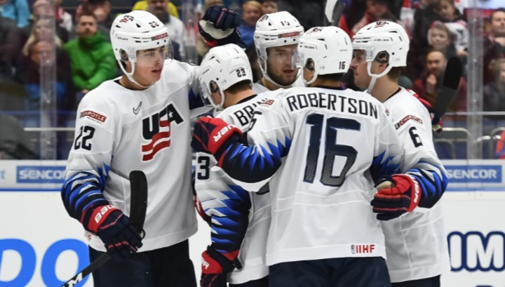 Сборная США обыграла команду Чехии в матче молодежного чемпионата мира