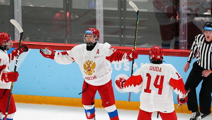 Российские хоккеисты обыграли канадцев на юношеских Олимпийских играх