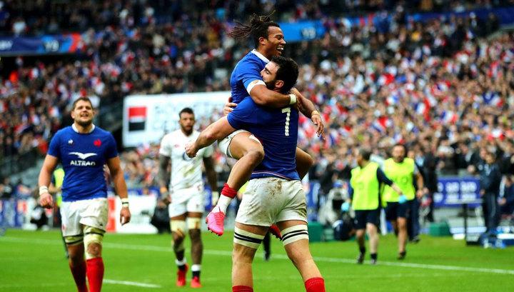 Регбисты Франции обыграли Англию в Кубке шести наций