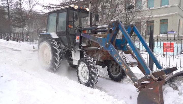 На Колыму идет мощный снежный циклон