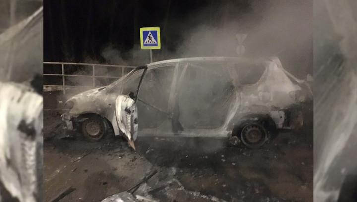 """""""Огонь!"""": появилось видео взрыва машины ликвидированного в Уфе боевика"""