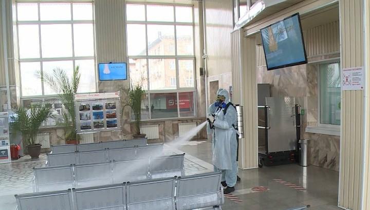 Вокзалы Красноярска дополнительно дезинфицируют