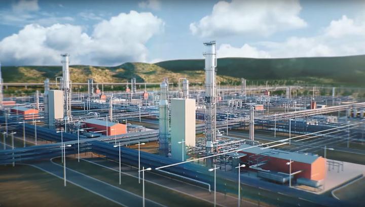 """""""Газпром"""": Амурский газоперерабатывающий завод готов на 58%"""