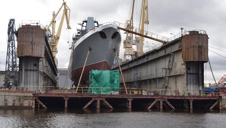Первый фрегат с российской силовой установкой спустят на воду в мае