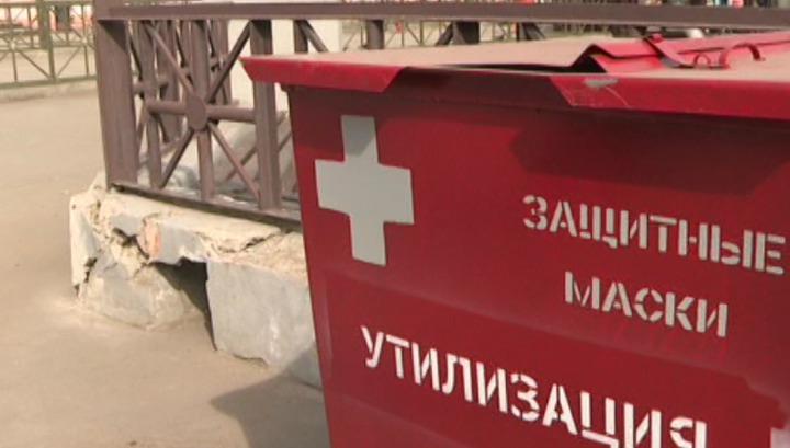 Специальные контейнеры для использованных защитных масок появились в Иркутске