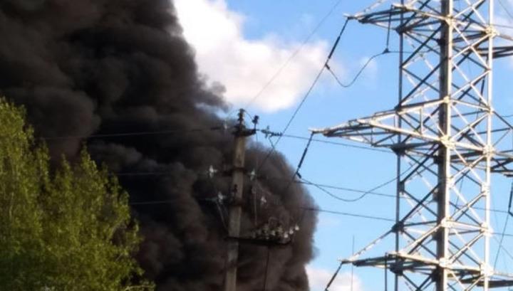 Крупный пожар в Елабуге обесточил 9 населенных пунктов