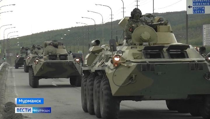 В Мурманск прибыла боевая техника для подготовки к Параду Победы