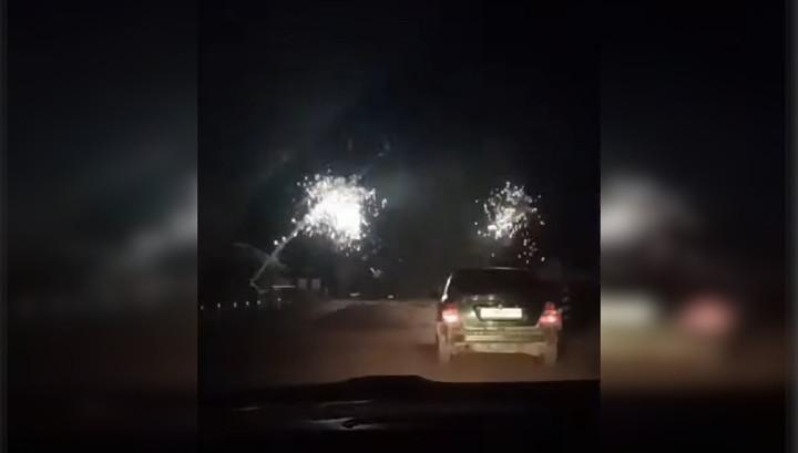 Пьяный водитель самосвала обесточил железную дорогу и устроил фейерверк
