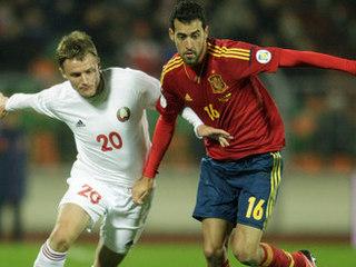Белоруссия испания футбол