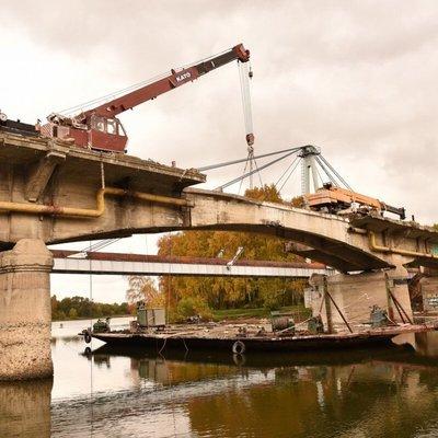 Обрушился временный рабочий мост между Амурской областью и китайской провинцией Хэйлунцзян