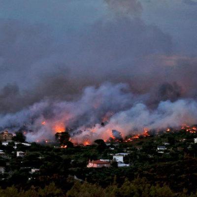 Греческий остров Эвбея продолжает гореть