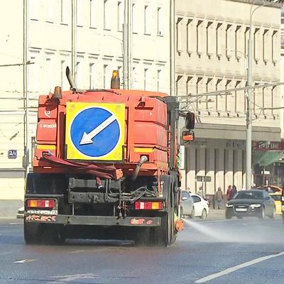 В Москве прошла генеральная уборка с использованием воды и спецсредств