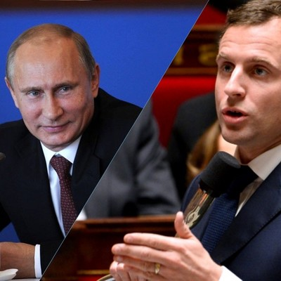 Путин и Макрон обсудили по телефону ситуацию в Сирии