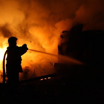 Пожар на западе Москвы
