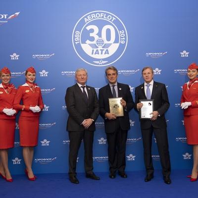 Аэрофлот отмечает 30-летие со дня вступления в IATA
