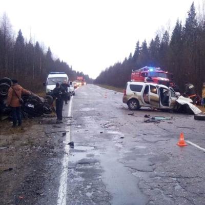 При лобовом ДТП под Вологдой погибли три человека