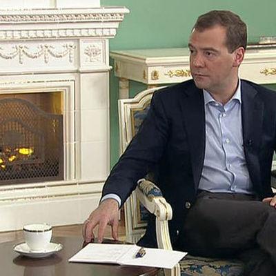 Медведев встретился со своим белорусским коллегой тет-а-тет