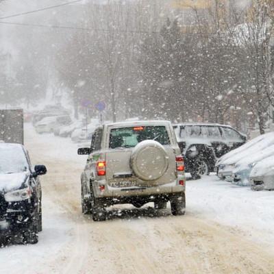 В Забайкалье ограничено движение на участках федеральных трасс из-за снегопада