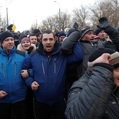Участники беспорядков в Нижних Санжарах записали видеообращение для Зеленского