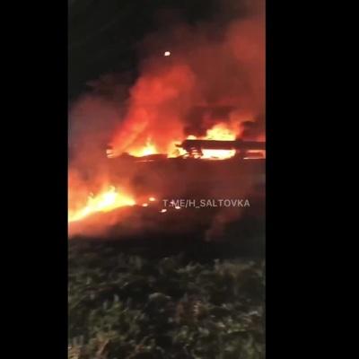 Самолет разбился в Харьковской области Украины около города Чугуева