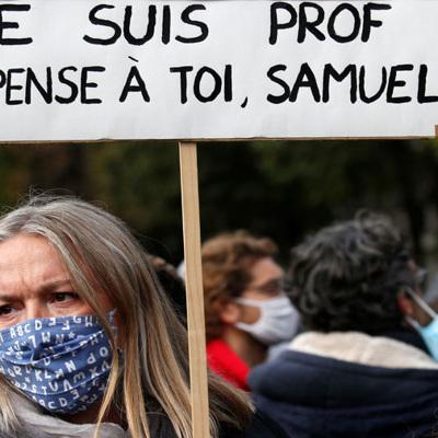 Национальная акция памяти по убитому учителю истории проходит в Париже
