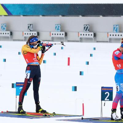 Женская сборная России по биатлону выиграла эстафету на этапе Кубка мира