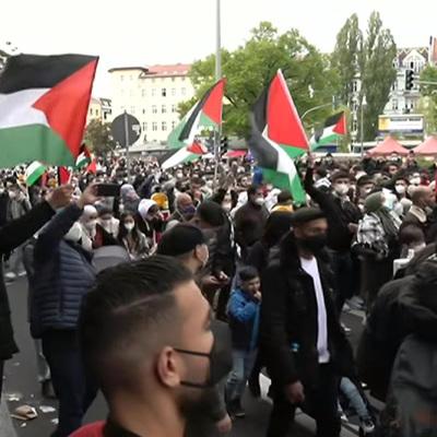 В Берлине проходит акция солидарности с Палестиной