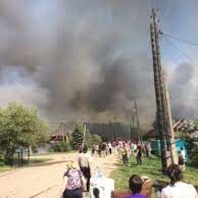 8 квартир сгорели при пожаре под Ульяновском