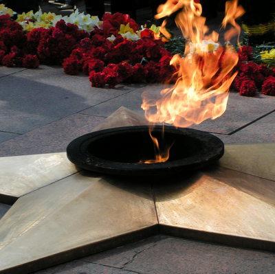 Челябинец задержан за сжигание венков на Вечном огне