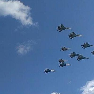 Воздушная часть парада Победы пройдет в 37 городах России и Сирии