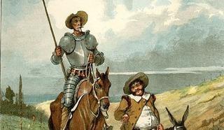 Дон Кихот и его верный слуга и оруженосец Санчо Пансо
