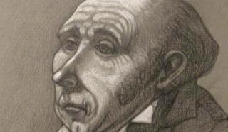 Рисунок. Бедный чиновник. XIX век.
