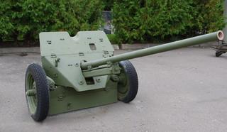 45-мм противотанковая пушка М-6 в экспозиции Центрального музея Великой Отечественной войны 1941 — 1945 гг.