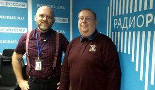 Дмитрий Конаныхин и Александр Пыжиков (МПГУ им. Ленина) в студии
