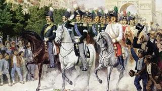 """Алексей Кившенко """"Вступление русских войск в Париж в 1814 году"""", 1880 г. / Public domain"""
