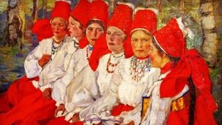 Е.А.Киселева. Невесты. Троицын день.1907