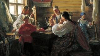 Зимним вечером. 1907 Иван Семёнович Куликов (1875-1941)