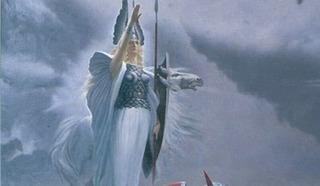 Валькирия. Фрагмент картины Константина Васильева