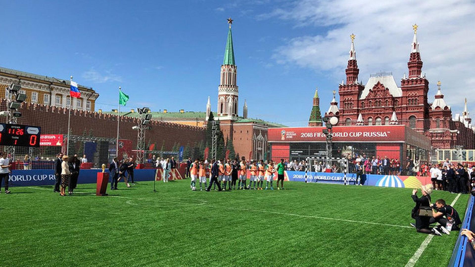 На Красной площади открылся Парк футбола